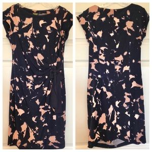 A Pea in the Pod dark navy blue and pink dress